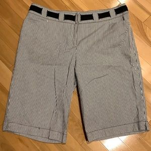 INC International Concepts striped shorts -size 12